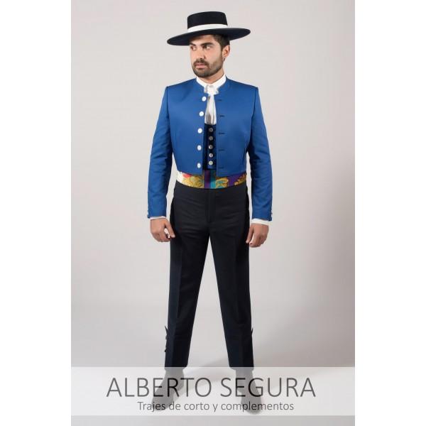 1fb2da5bfe376 Traje de Corto Sarga Azul Eléctrico. Loading zoom