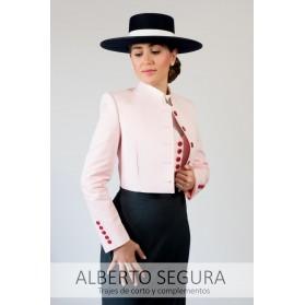 Chaqueta Señora 500 Rayas Rosa