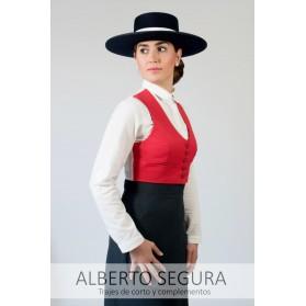 Chaleco Señora Sarga Roja