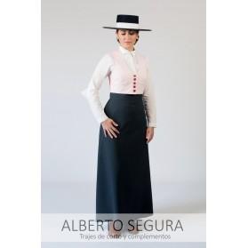 Chaleco Señora 500 Rayas Rosa
