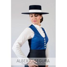 Chaqueta de Corto Señora Sarga Azul Eléctrico