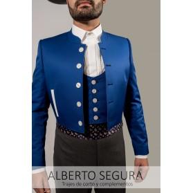 Chaqueta Sarga Azul Eléctrico