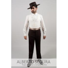 Chaleco Sarga Blanco Roto