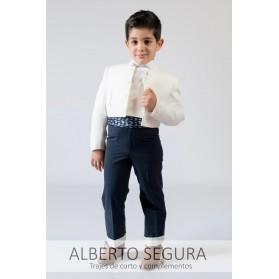 Traje Niño Sarga Blanco Roto