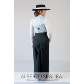 Falda Sarga Azul Marino